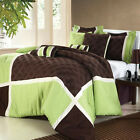 Quincy Green Comforter Bed In A Bag Set 8 Piece