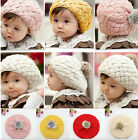 Cute Baby Infant Girls Toddler Winter Warm Knitted Crochet Hat Cap Beanie Soft