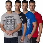 SLAZENGER NEW MENS BRAND PRINTED SHORT SLEEVE CREWENECK T SHIRT TEE TOP S - XL