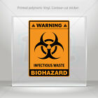 Decals Decal Biohazard Infectious Waste Car Motorbike Bike Garage mtv X439X