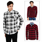 Brave Soul Mens JackD Checked Shirt New Designer Chambray Detail Cotton Top