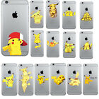 Pikachu Pokemon Go Rubber Soft TPU GEL Slim Case Cover For iPhone Series