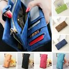 Fashion Women Leather Wallet Button Clutch Zipper Purse Lady Long Handbag Bag 1X