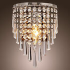 Wall Sconce Fixture Semi Crystal Metal Chandelier Wall Lamp Light Home LIVING US