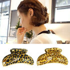 Fashion Women Leopard Print Acrylic Hair Clips Claws Hairpins Hair Accessories