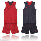Summer Men's Double Wear Breathable Basketball Clothes Sports Training Suit