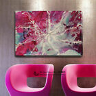 Abstract Stretched Canvas Print Framed Wall Art Home Office Decor Painting Pink