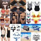 Womens Sexy  Padded Bra Floral Swimsuit Beach Swimwear Bathing Push-up Bikini