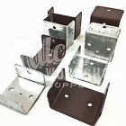 40mm 46mm 52mm GALVANISED / BROWN FENCE & TRELLIS CLIPS BRACKET PANEL FIXING