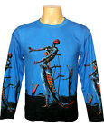 BURNING GIRAFFE SALVADOR DALI Art Print Shirt Long Sleeve MENS M L XL NEW PN