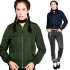 Brave Soul Designer Army 2 Womens Bomber Jacket Ladies Padded MA1 Biker Coat