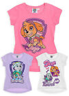 Girls Paw Patrol Short Sleeved T-Shirt New Kids Skye Everest Top Ages 3-8 Years
