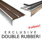 Aluminium stair nosing profiles 90cm strip nose stair angle DOUBLE RUBBER ! ! !