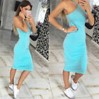 Autumn Beach Sexy Women Halter Neck Party Spaghetti Strap Bodycon Dress Pencil A