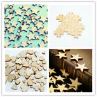 50pcs Wooden Mini Jigsaw Puzzle Piece Craft Decor DIY Making Scrapbooking 3Style