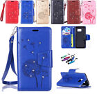 Fashion Card Holder Leather Flip Wallet Case Cover For Samsung Galaxy Phone+Gift