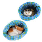 Home Decor Simulation Animal Sound Cat in Bed 10 x 9cm
