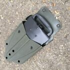BRITISH ARMY SURPLUS ISSUE GREEN SEYNTEX RUBBER ENTRENCHING TOOL WEBBING POUCH