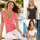 Fashion Womens Solid Loose Tee T-Shirt Shirt Blouse White Pink Black Tops