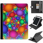 U-BALL01 COLOUR UNIVERSAL PROTECTIVE TABLET LEATHER FLIP WALLET 360 SWIVEL CASE
