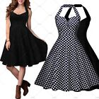 Women Vintage Retro 1950's Casual Coktail Party Formal Wiggle Swing Skater Dress