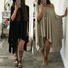 Women Irregular batwing sleeve Dress Cocktail Evening Party Beach Mini PLUS SIZE