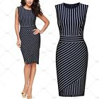 Women New Striped Slim Pencil Dress Casual Cocktail Party Business Work Dress