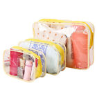 1X PVC Coated Clear Plastic Pouch Travel Bathing Toiletry Zipper Cosmetic Bag