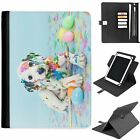 U-DOGB12 FUN DOG UNIVERSAL PROTECTIVE TABLET LEATHER FLIP WALLET 360 SWIVEL CASE
