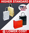 250 Cub High Gloss Glossy Paper Shopping Bag Bags Red Black Silver Gold Colors