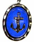 Rocker Jewelry Blue Lapis Anchor Pendant Anchor Necklace