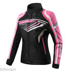 Genuine Women Summer Outdoor Breathable Motorcycle Jacket Pink Protect Clothes