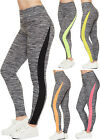 Womens Stretch Neon Full Length Slim Work Out Pants Bottoms Ladies Leggings 8-14