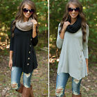Womens Loose Casual Long Sleeve Sexy Shirt Tops Blouse Ladies Tee Top Plus Size
