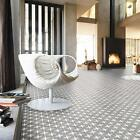 Memoir Encaustic Oakham Grey Scored Effect Ceramic Floor Tiles 450x450x10mm