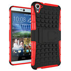 Armor Shockproof Rugged Hybrid Stand Protective Back Case Cover For HTC Phones