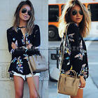 Fashion Women's Ladies Loose Top Blouses Long Sleeve Casual Tops T-Shirt NEW