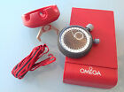 Omega Olympic grade split second stopwatch timer with case lanyard stop watch