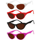 1950'S ROCK N ROLL GLASSES WHITE RED BLACK PINK 50S FANCY DRESS COSTUME ACCESORY