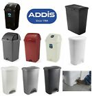 ADDIS 50 LITRE BIN DUSTBIN RUBBISH PAPER KITCHEN WASTE BIN ROLL TOP PEDAL BINS