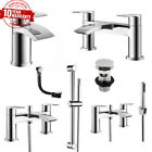 Modern Chrome Waterfall Single Lever Bathroom Basin Mixer Bath Filler Shower Tap