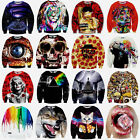 Men Women 3D T Shirt Print Hoodie Sweater Sweatshirt Pullover Top Jumper Tees