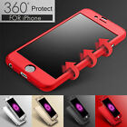 iPhone 6 6S Plus Ultra-Thin Shockproof Hard Case Cover Tempered Glass For Apple