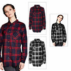 Brave Soul Tom Womens Brushed Cotton Checked Top Long Sleeved Lumberjack Shirt