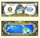 Endangered Sea Turtles One Million Dollar Bill (Pick Quantity 5 to 5000 Bills)