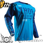 THOR FUSE AIR OBJECTIVE MX MOTOCROSS MOTORCYCLE MOTORBIKE DIRT BIKE JERSEY BLUE