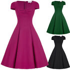 Womens Retro Vintage 50s 60s Ladies Pinup Evening Cocktail Party Swing Tea Dress