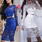 New Sexy Womens Slim Bandage Bodycon Dress ❀ Ladies Party Sexy Pencil Lace Dress