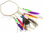 Feather Headdress Hippy Indian Feather Headband Festival boho Hairband UK