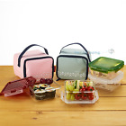 KOMAX Lunchmate BPA Free Tritan Lunch box bento Set-2 Containers with Bag